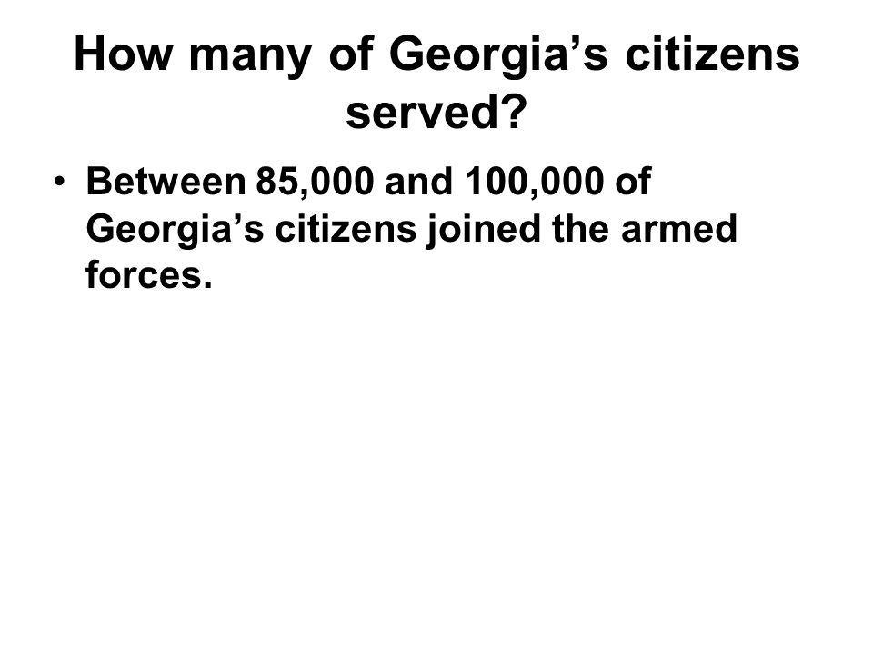 How many of Georgia's citizens served