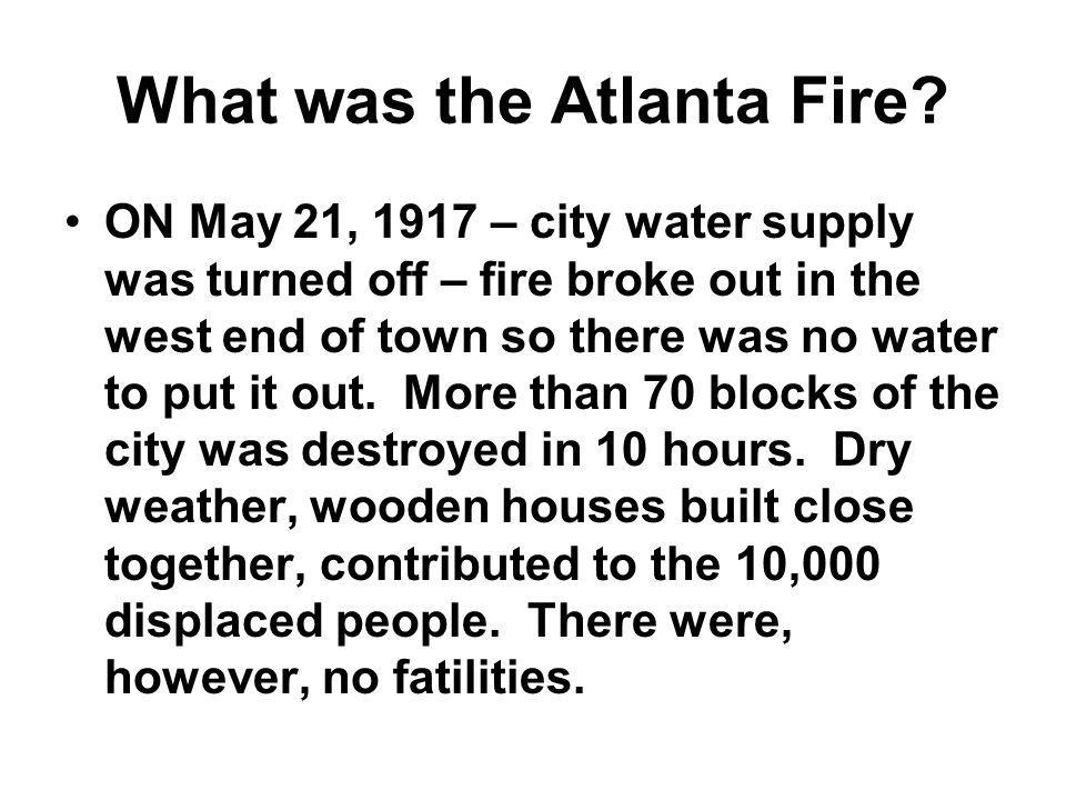 What was the Atlanta Fire