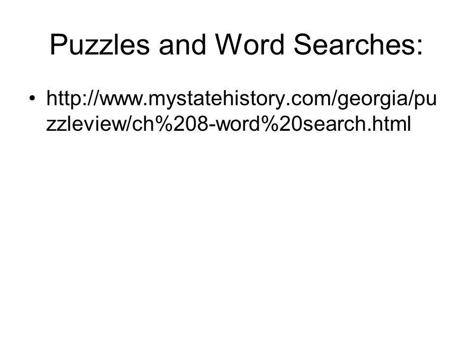 Puzzles and Word Searches: