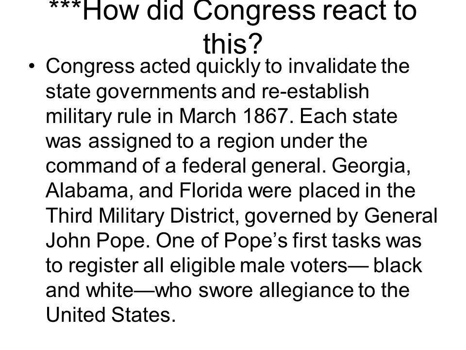 ***How did Congress react to this