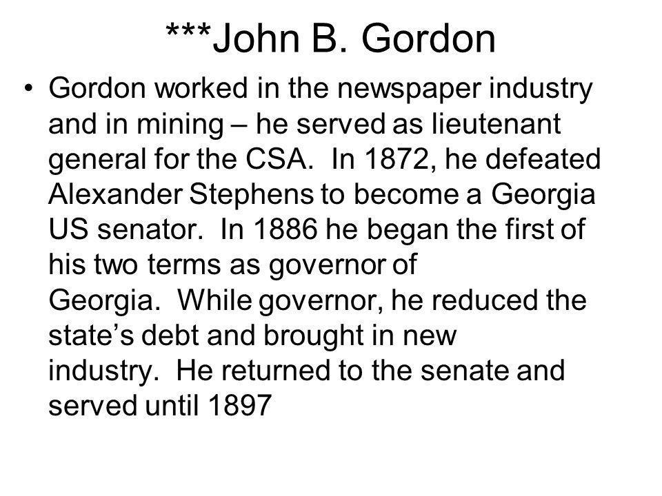 ***John B. Gordon