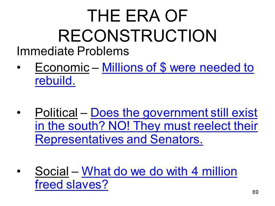 THE ERA OF RECONSTRUCTION