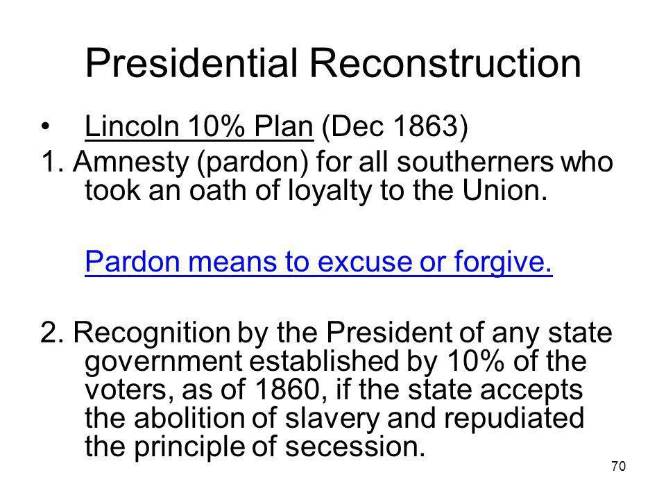 Presidential Reconstruction