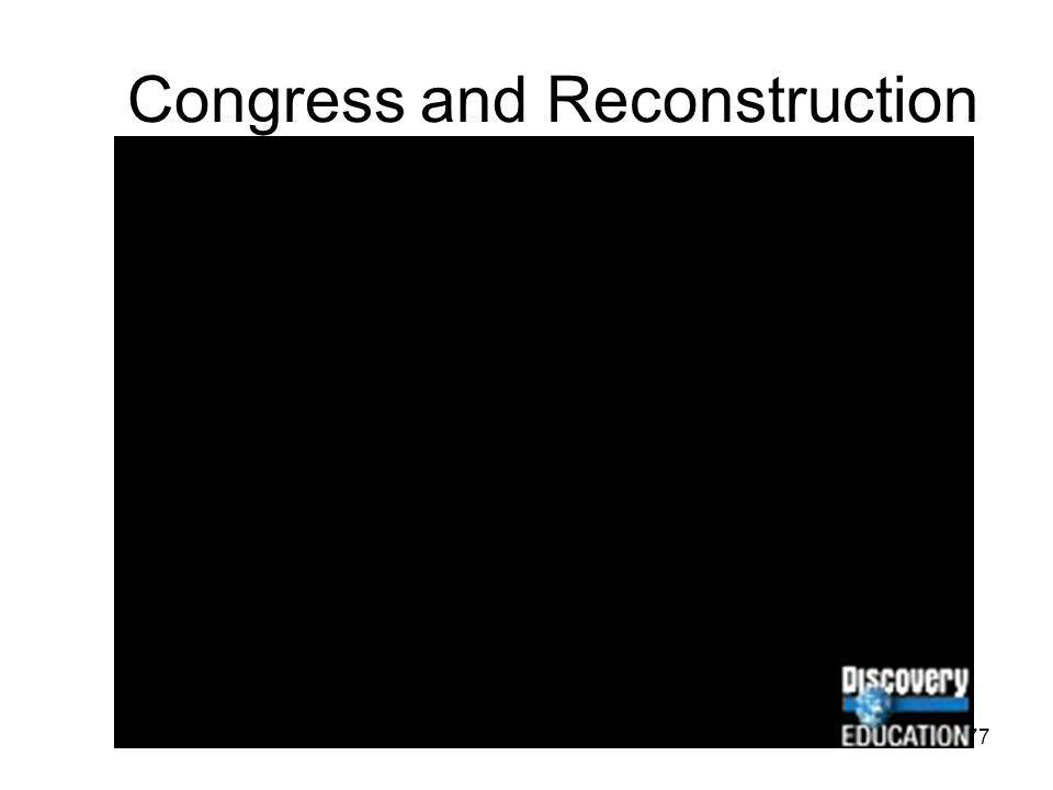 Congress and Reconstruction
