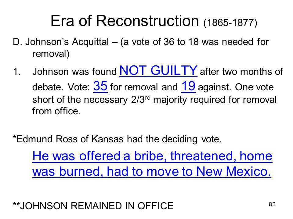 Era of Reconstruction (1865-1877)