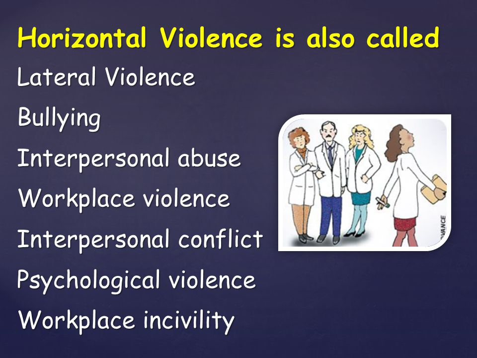 Horizontal Violence is also called