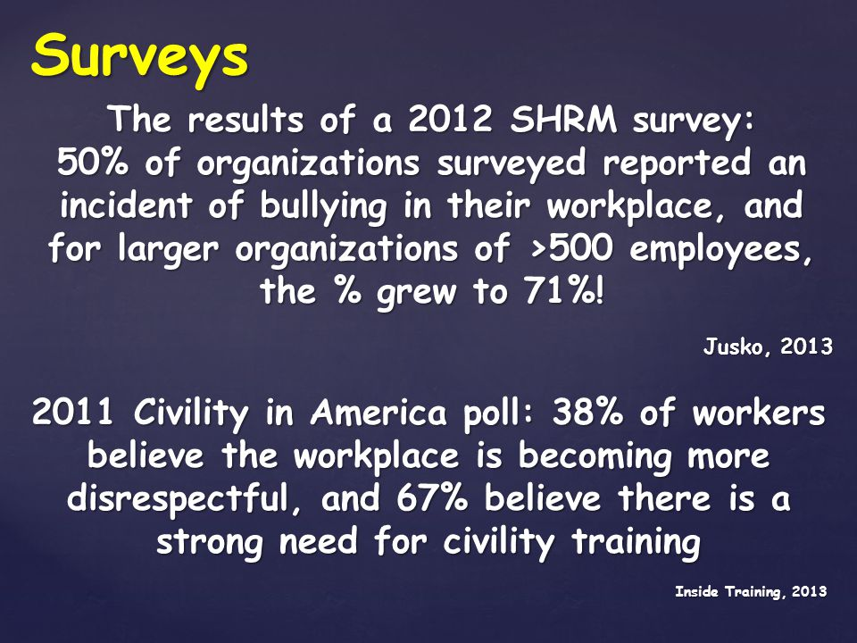 The results of a 2012 SHRM survey: