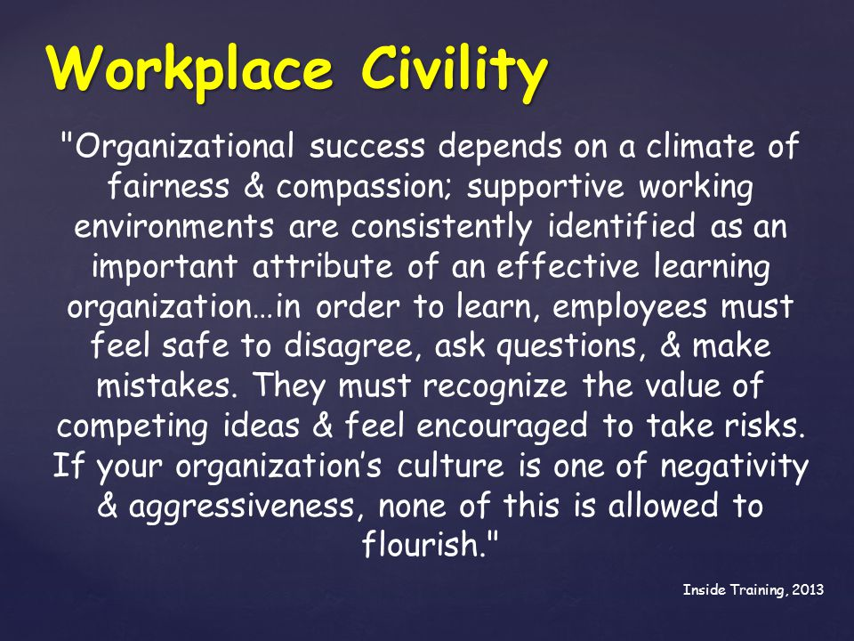 Workplace Civility
