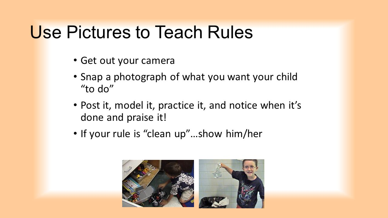 Use Pictures to Teach Rules