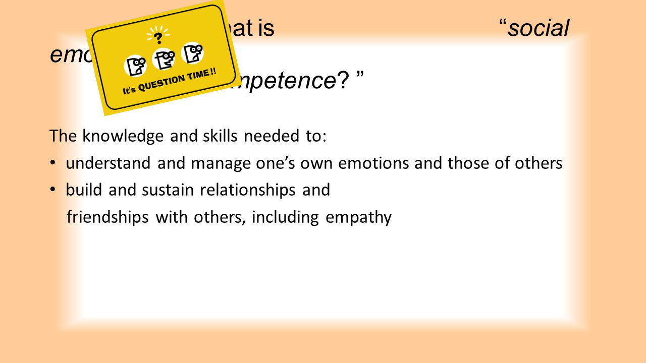 What is social emotional competence