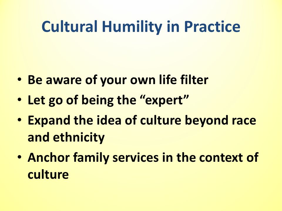 Cultural Humility in Practice