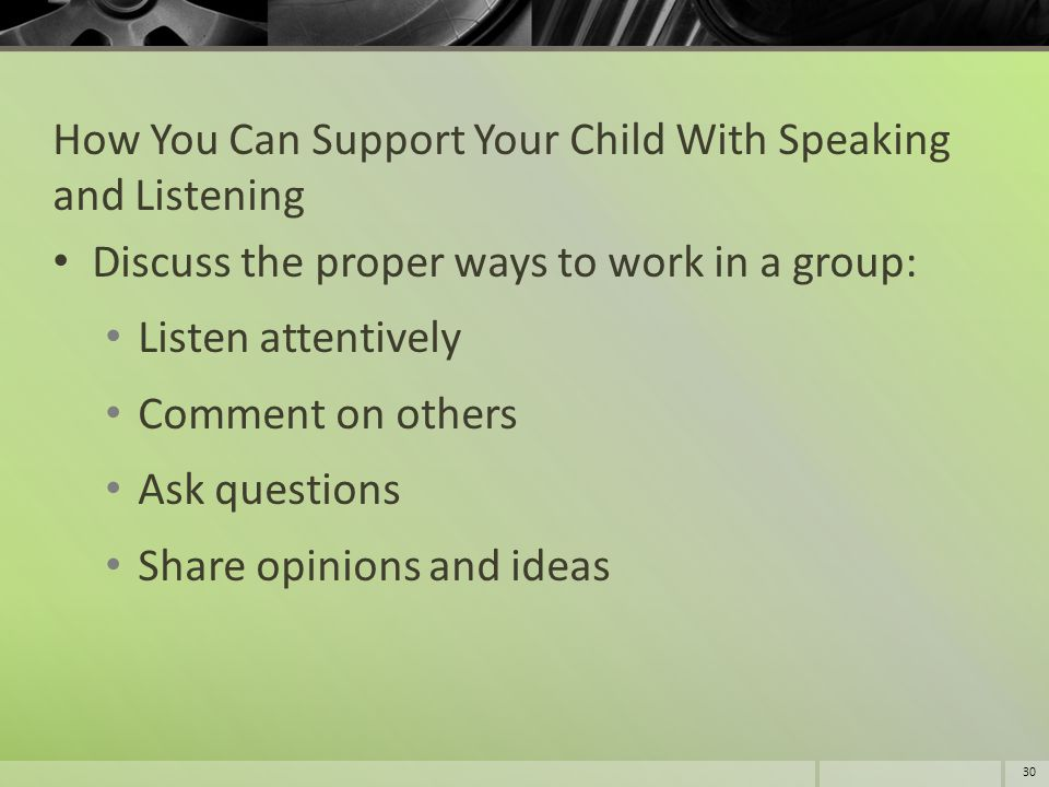 How You Can Support Your Child With Speaking and Listening