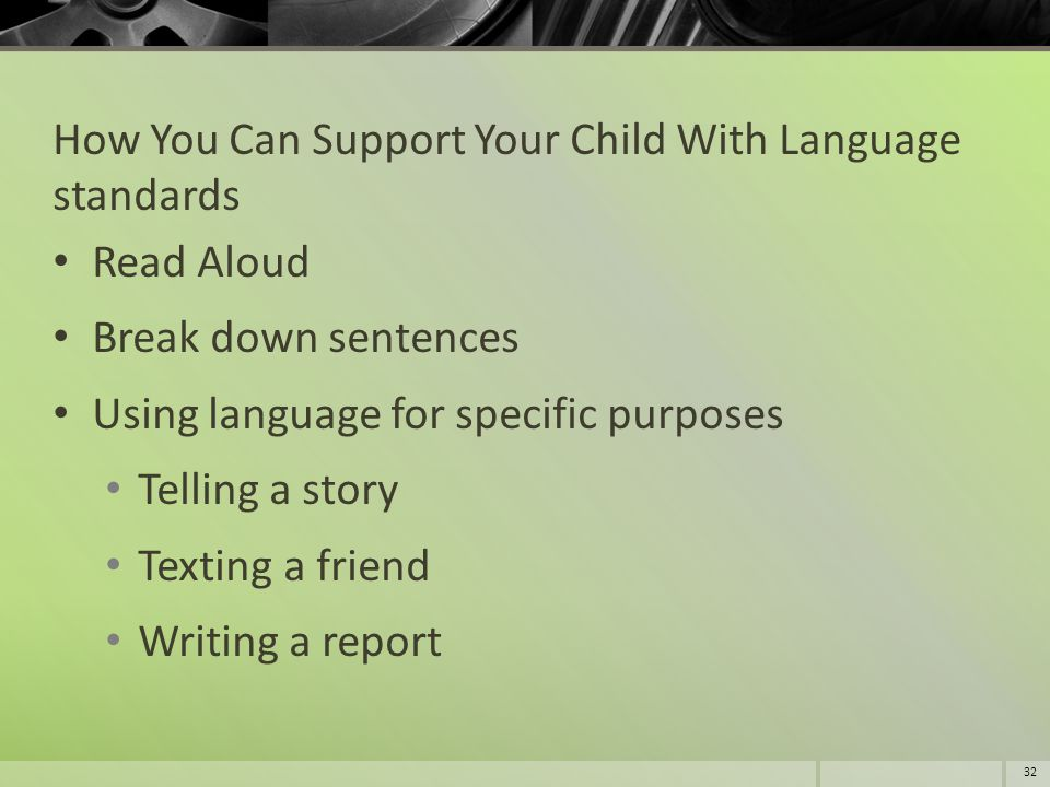 How You Can Support Your Child With Language standards
