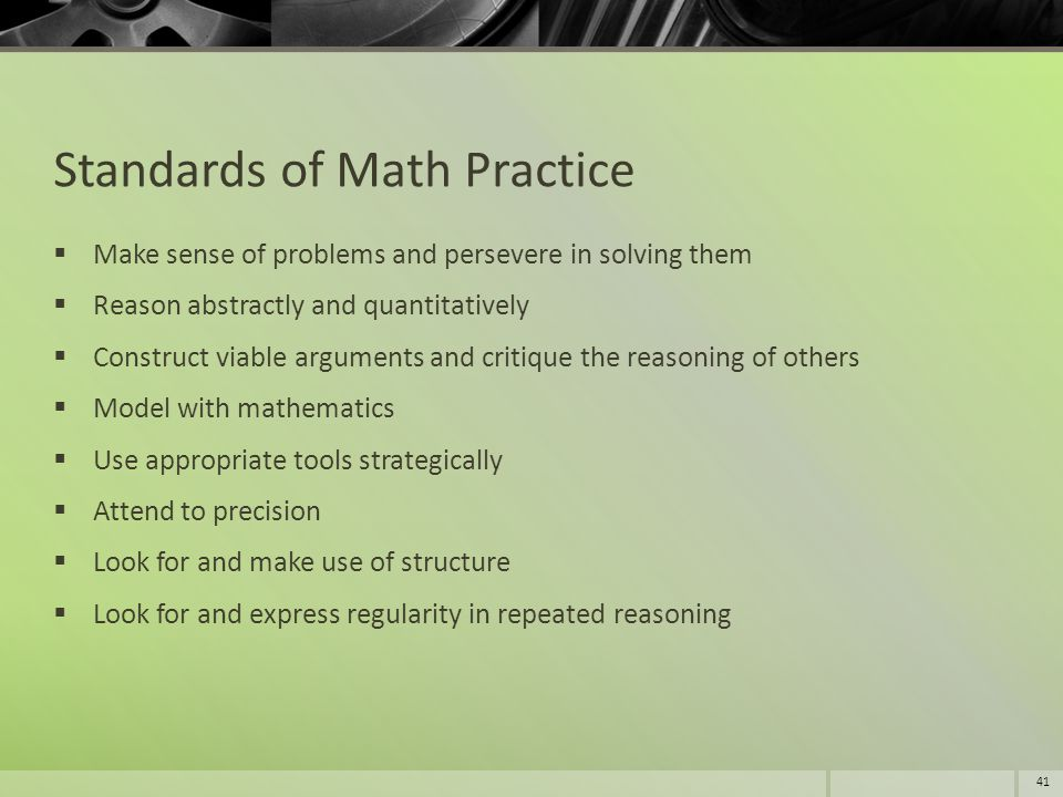 Standards of Math Practice