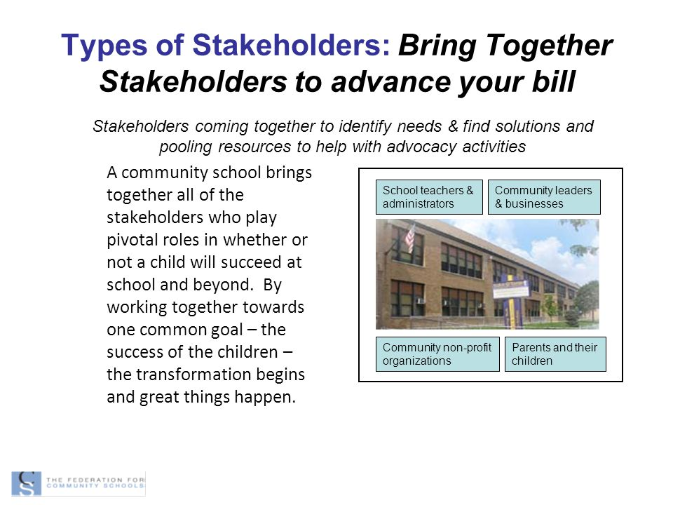 Types of Stakeholders: Bring Together Stakeholders to advance your bill