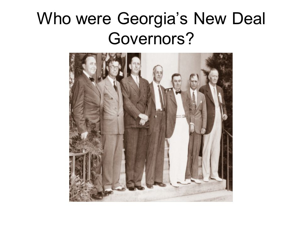 Who were Georgia's New Deal Governors