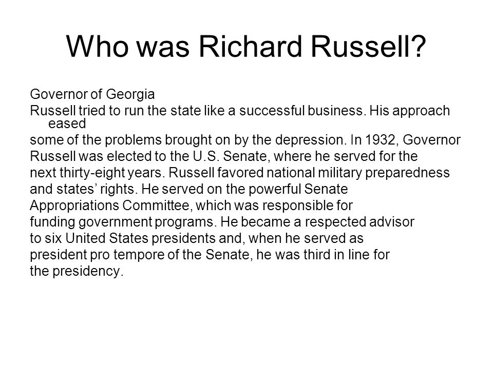 Who was Richard Russell