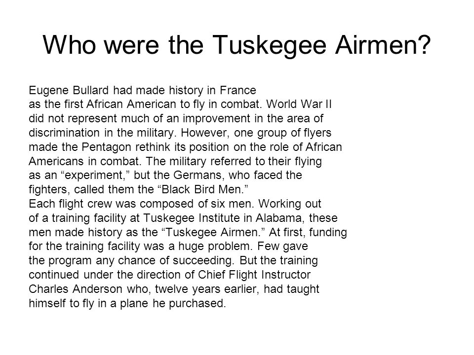 Who were the Tuskegee Airmen