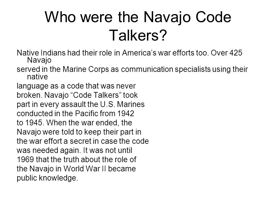 Who were the Navajo Code Talkers