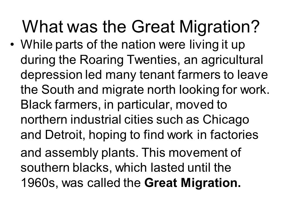 What was the Great Migration