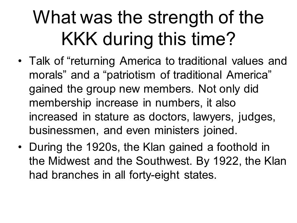 What was the strength of the KKK during this time