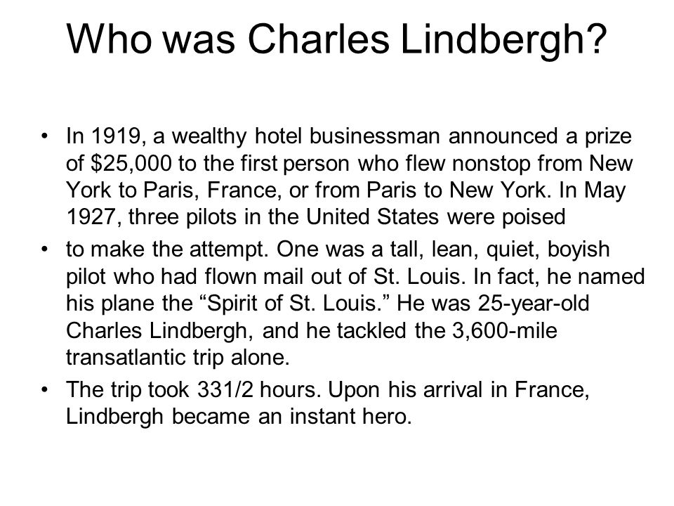 Who was Charles Lindbergh
