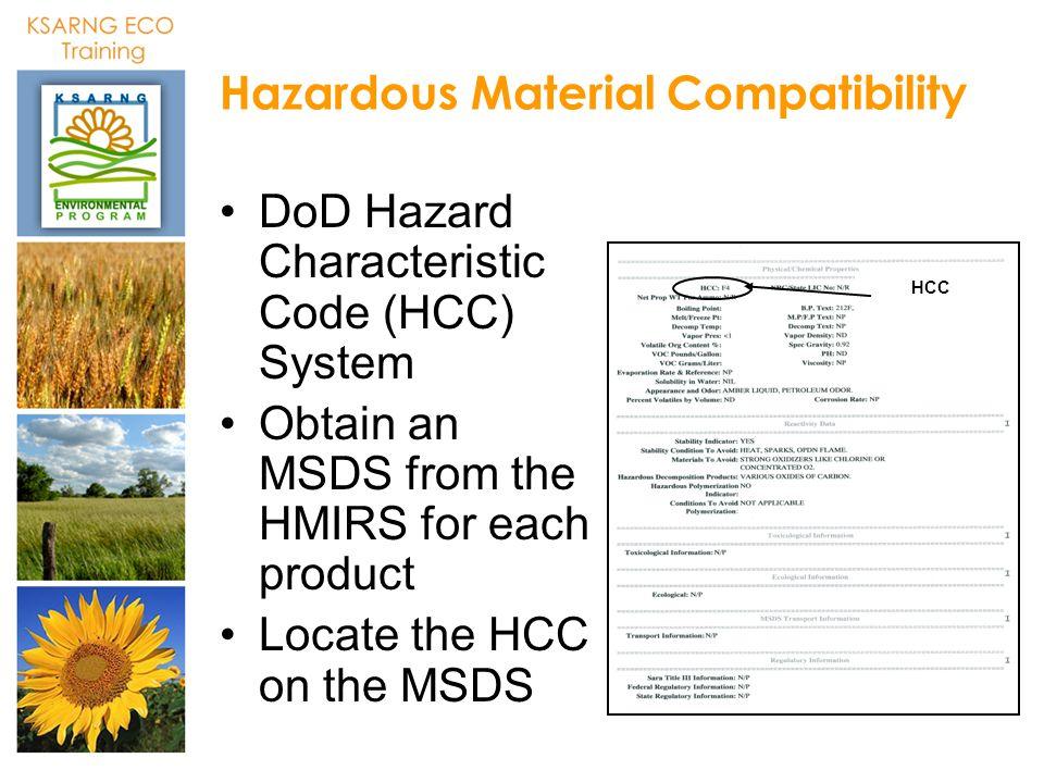 Hazardous Material Compatibility