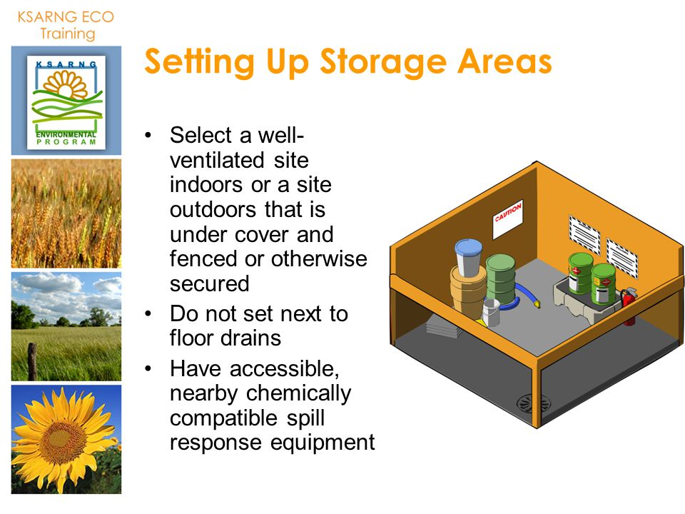 Setting Up Storage Areas