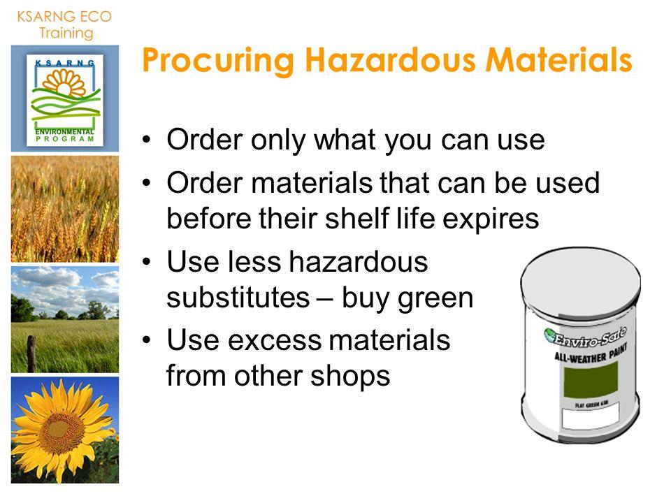 Procuring Hazardous Materials