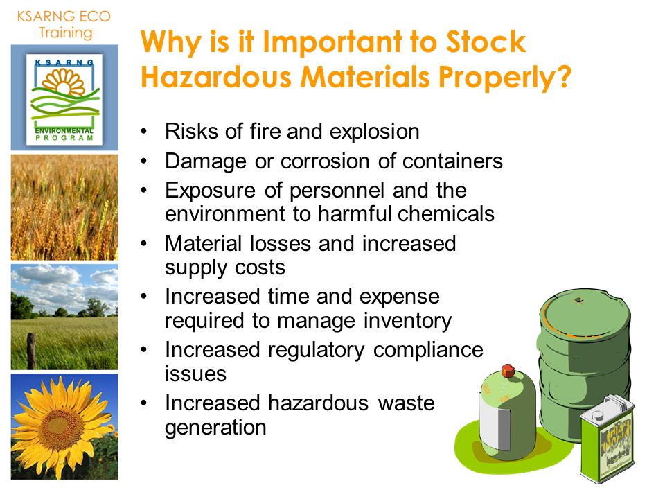 Why is it Important to Stock Hazardous Materials Properly