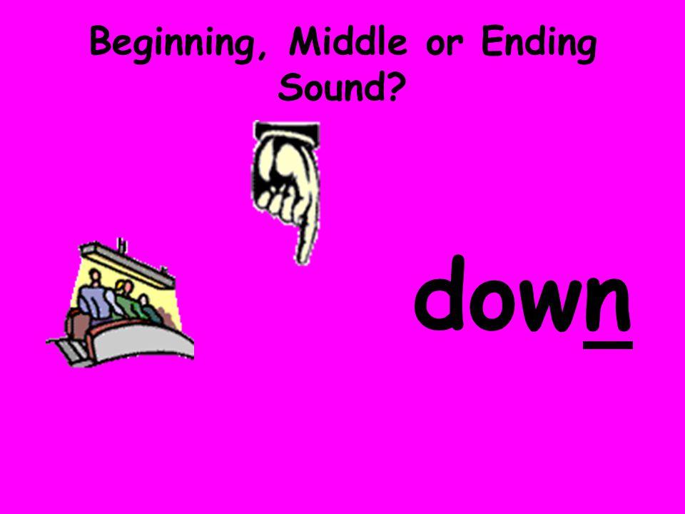 Beginning, Middle or Ending Sound