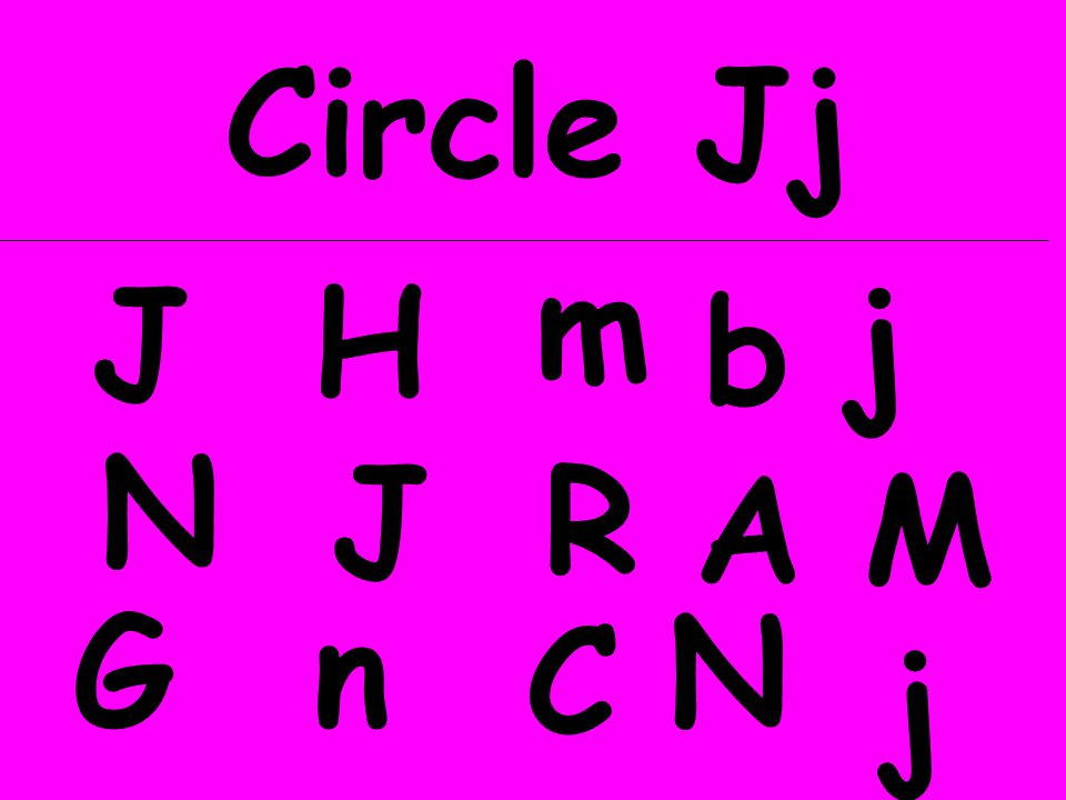 Circle Jj m J H j b N J R A M G n N C j