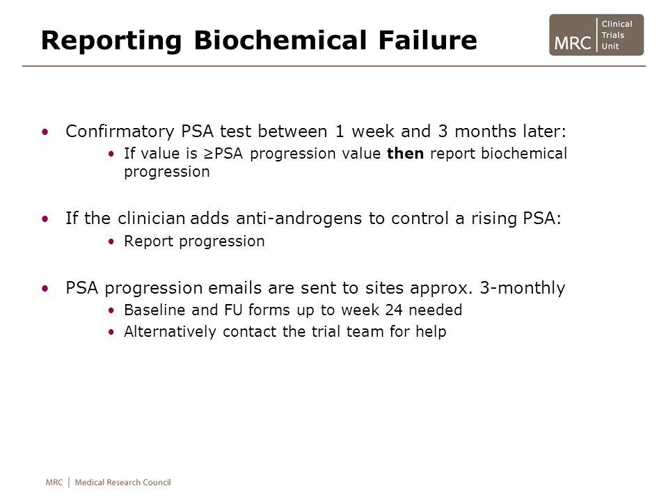 Reporting Biochemical Failure