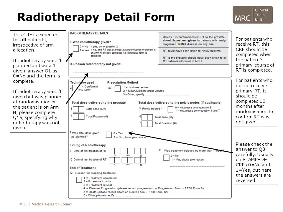 Radiotherapy Detail Form