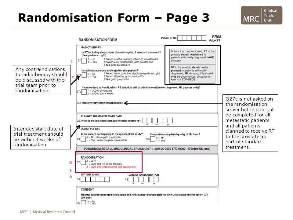 Randomisation Form – Page 3