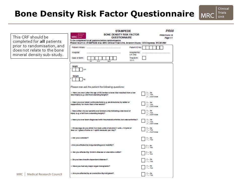 Bone Density Risk Factor Questionnaire