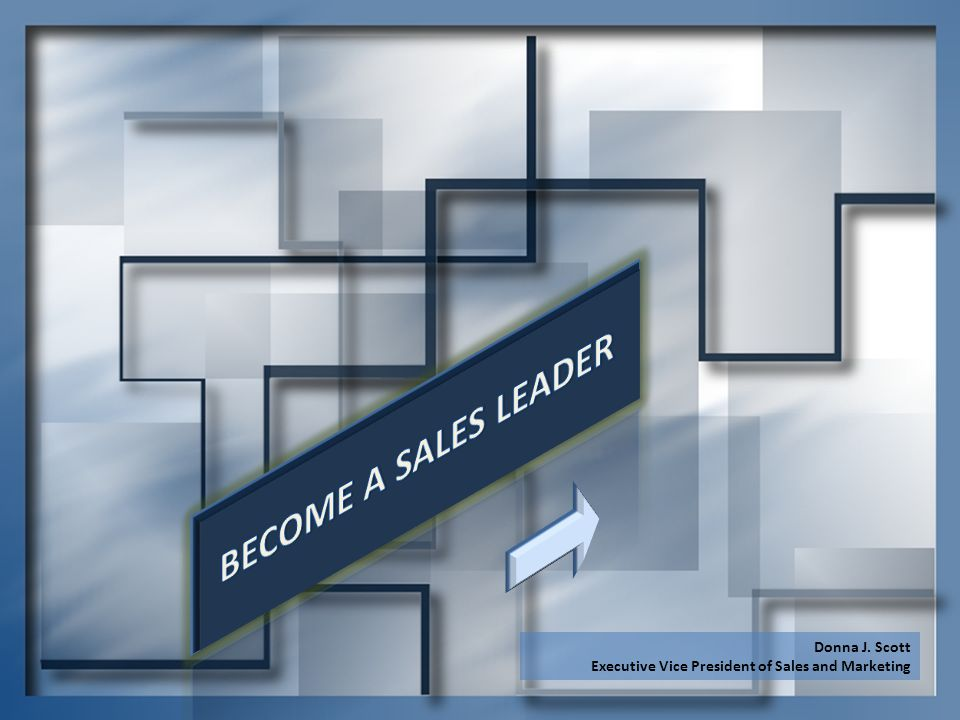 BECOME A SALES LEADER Donna J. Scott