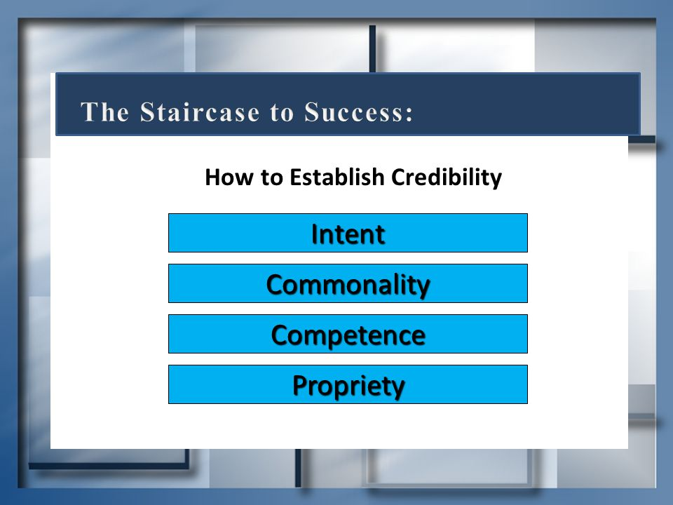 How to Establish Credibility