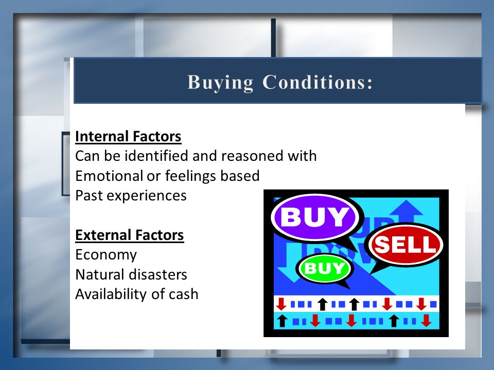 Buying Conditions: Internal Factors