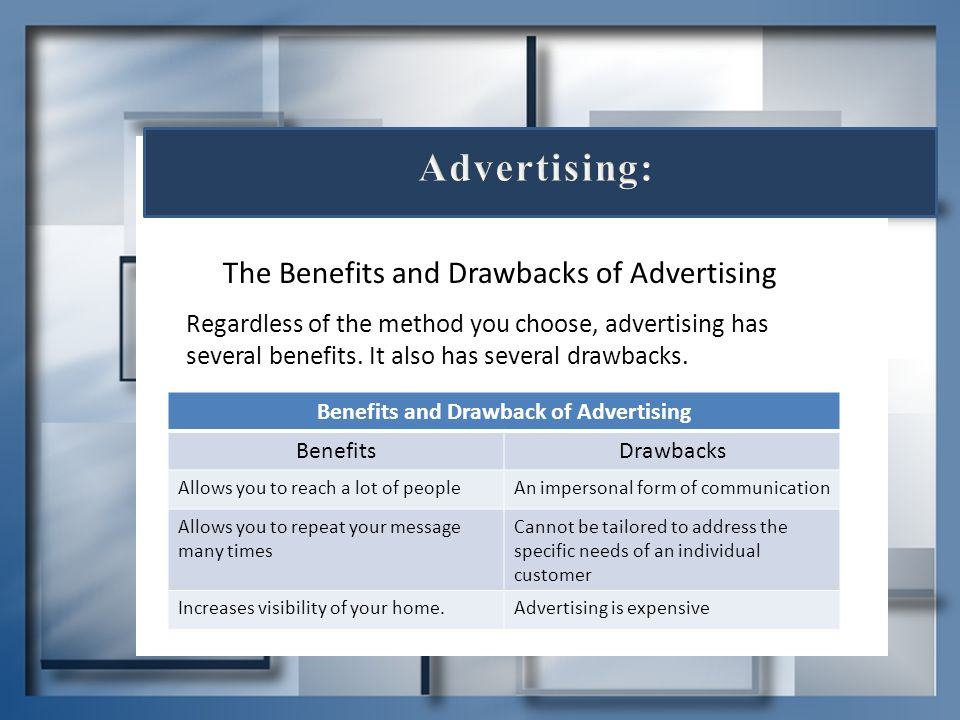 Benefits and Drawback of Advertising