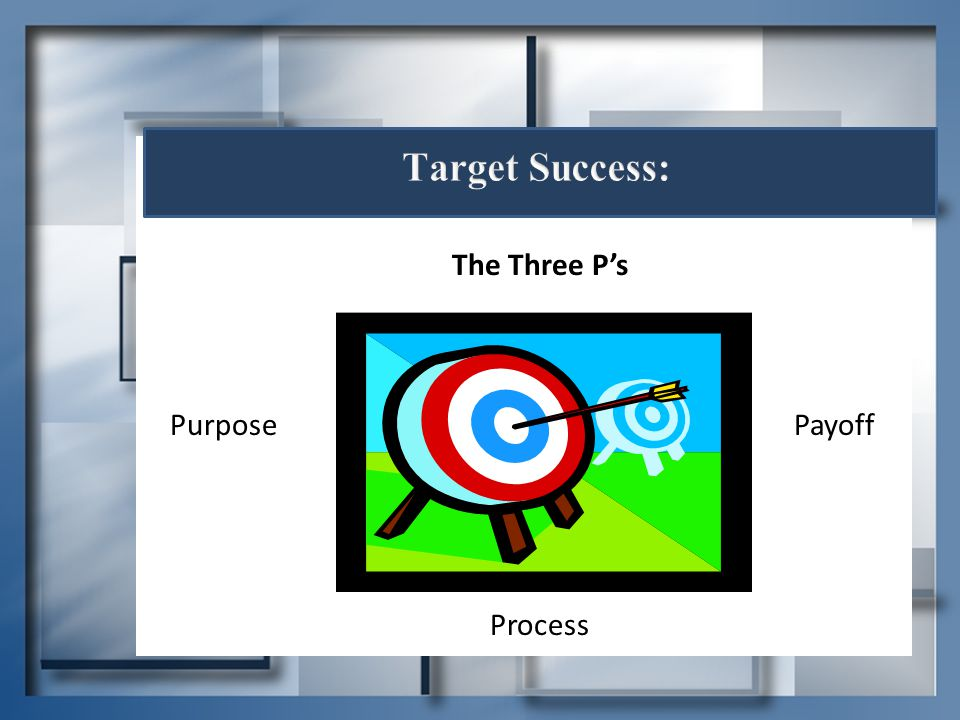 Target Success: The Three P's Purpose Payoff Process