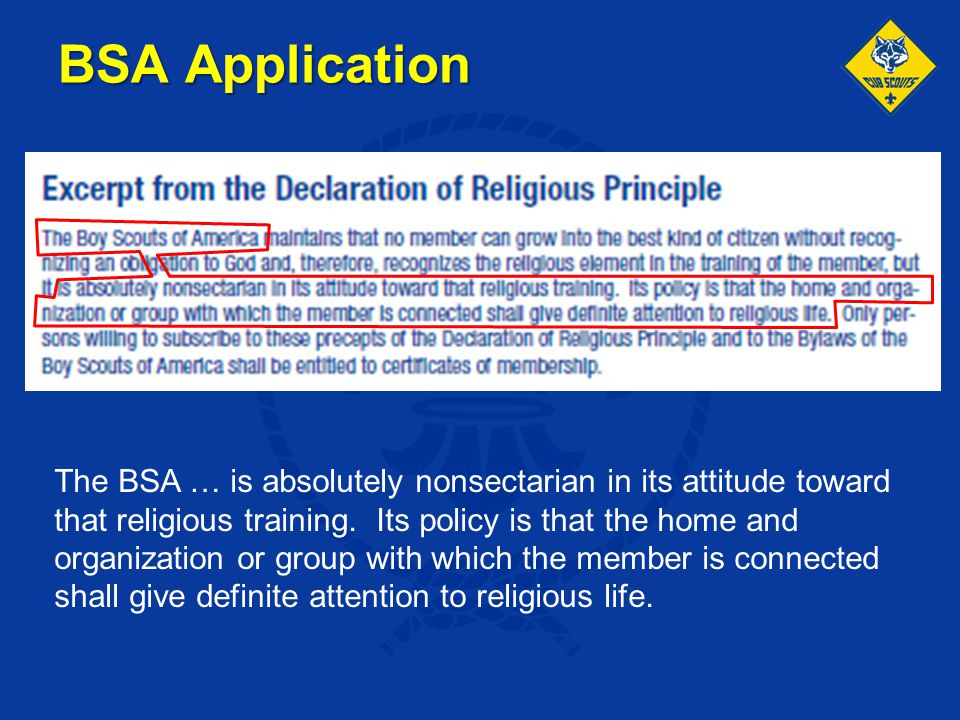 BSA Application