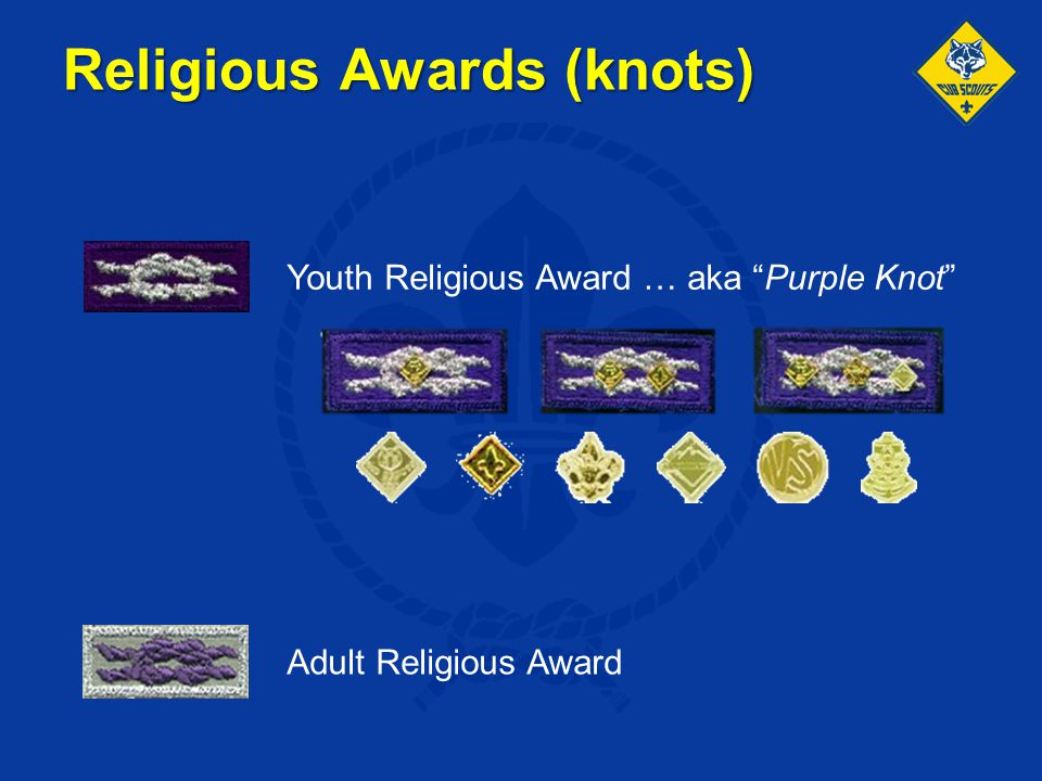 Religious Awards (knots)