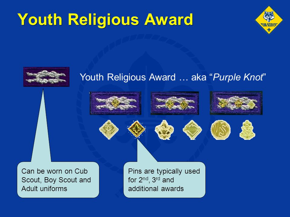 Youth Religious Award Youth Religious Award … aka Purple Knot