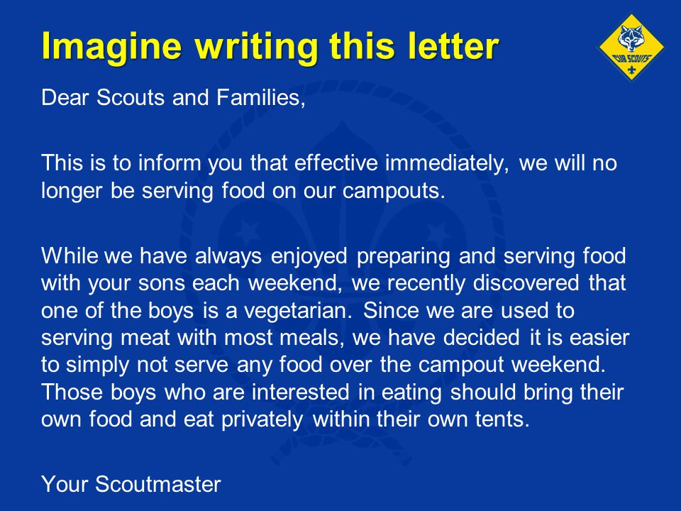 Imagine writing this letter