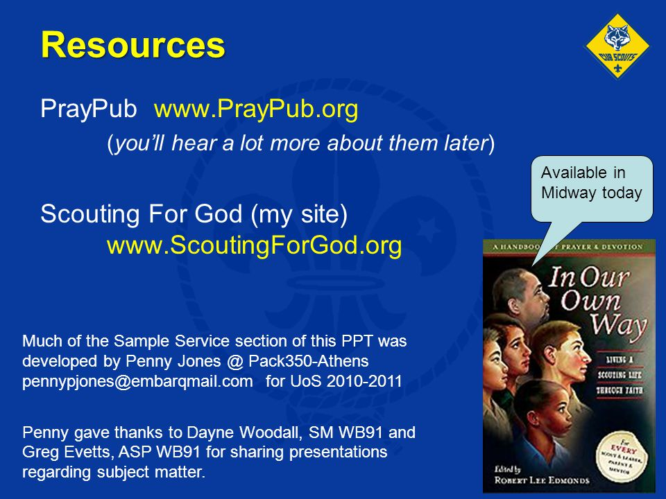 Resources PrayPub www.PrayPub.org