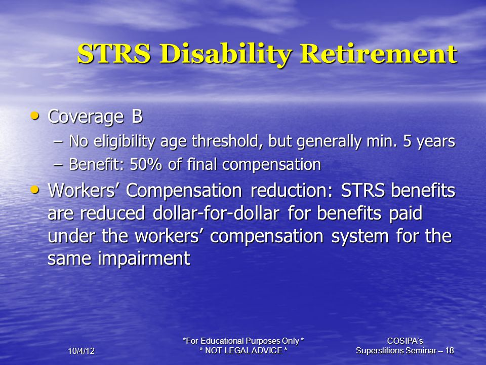 STRS Disability Retirement