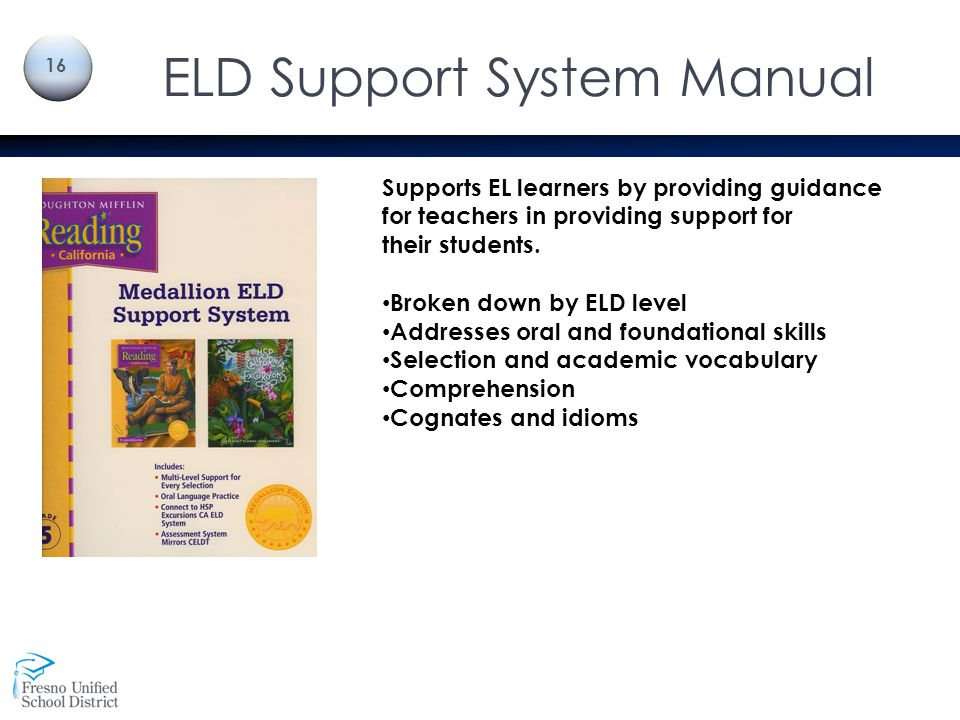 ELD Support System Manual
