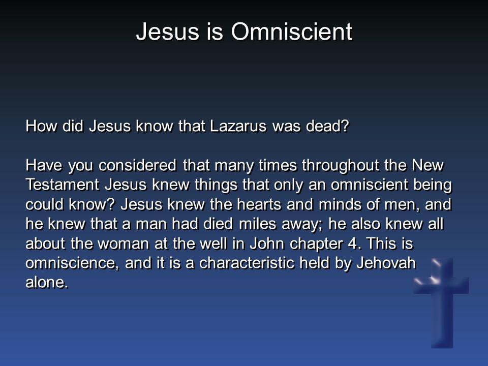 Jesus is Omniscient