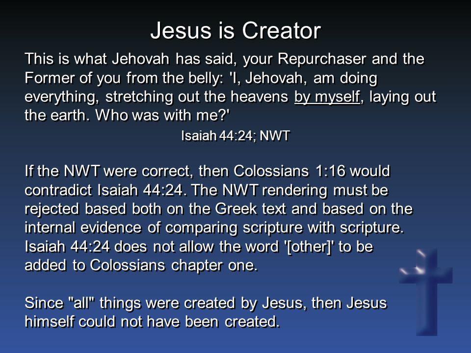 Jesus is Creator